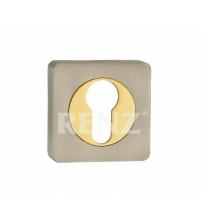 Накладка на цилиндр RENZ ЕТ 02 SN/GP (матовый никель/золото)