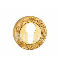 Накладка на цилиндр RENZ ET 20 SG/GP (матовое золото/золото)