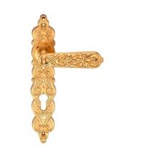 Ручки дверные на планке ARCHIE GENESIS ARABESCO S. GOLD- CL (матовое золото, под цилиндр)