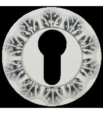 Накладка на цилиндр Медио L55 ENT CPW (эмаль белая/хром)