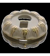 Накладка на цилиндр Медио L55 ENT GPW (эмаль белая/золото)