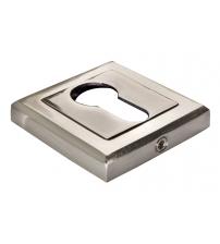 Накладки на цилиндр MORELLI DIY MH-KH-S SN/BN (белый никель/чёрный никель)
