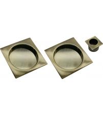 Комплект квадратных ручек для раздвижных дверей MORELLI MHS-2 AB (античная бронза)