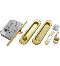 Комплект ручек для раздвижных дверей с защёлкой MORELLI MHS-150 WC SG (матовое золото)