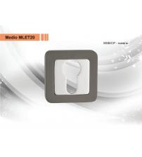 Накладка на цилиндр MEDIO LMA ЕТ 20 MSB/CP (матовый никель/хром)