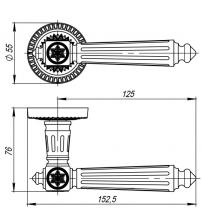 Ручки ARMADILLO CLASSIC Matador CL-4 ОВ-13 (античная бронза)
