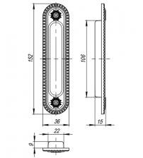 Ручки для раздвижных дверей ARMADILLO SH010/СL FG-10 (французское золото)