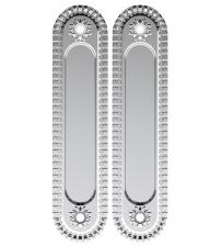 Ручки для раздвижных дверей ARMADILLO SH010/СL Silver-925 (серебро 925)