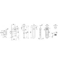 Ручки для раздвижных дверей ARMADILLO SH011-ВК AB-7 (бронза)