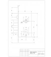 Корпус замка врезного Apecs T-05-CR (T5, хром)