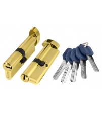 Ц/М PUNTO Z402/60 mm (25+10+25) PB (золото, ключ/вертушка)