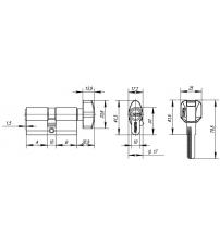 Ц/М PUNTO Z402/100 mm (40+10+50) СР (хром, ключ/вертушка)